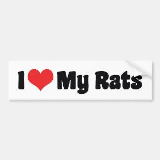 I Love My Rats Bumper Sticker