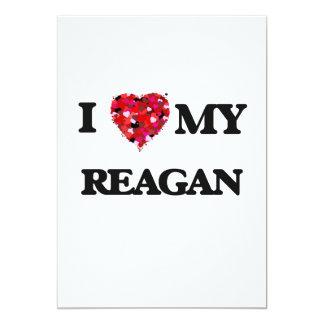 I love my Reagan 13 Cm X 18 Cm Invitation Card
