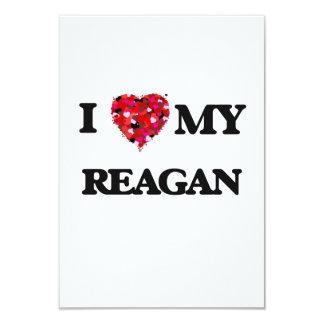 I love my Reagan 9 Cm X 13 Cm Invitation Card