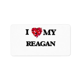 I love my Reagan Address Label