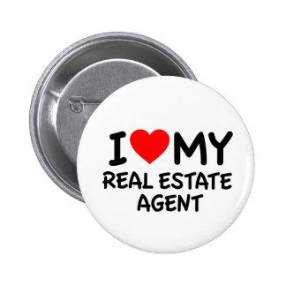 I love my Real Estate Agent 6 Cm Round Badge