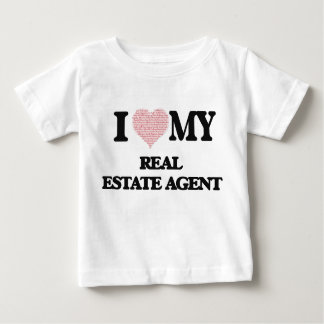 I love my Real Estate Agent (Heart Made from Words T-shirt