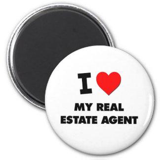 I love My Real Estate Agent Fridge Magnet