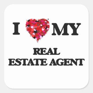 I love my Real Estate Agent Square Sticker