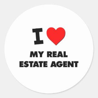 I love My Real Estate Agent Round Sticker