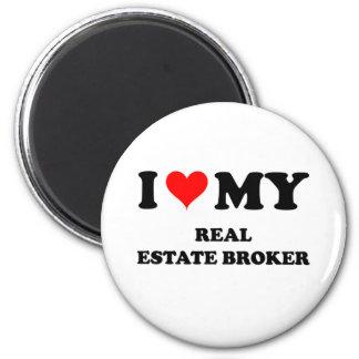I Love My Real Estate Broker Fridge Magnets