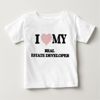 I love my Real Estate Developer (Heart Made from W Tee Shirt
