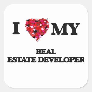 I love my Real Estate Developer Square Sticker
