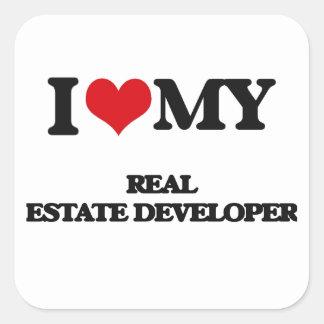 I love my Real Estate Developer Square Stickers