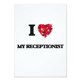I Love My Receptionist 13 Cm X 18 Cm Invitation Card