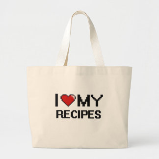 I Love My Recipes Digital design Jumbo Tote Bag