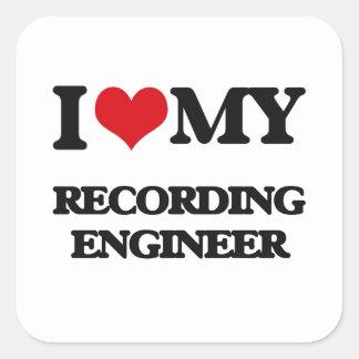 I love my Recording Engineer Stickers