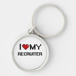 I love my Recruiter Silver-Colored Round Key Ring