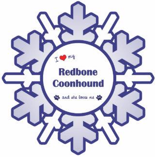 I Love My Redbone Coonhound (Female Dog) Photo Sculpture Decoration