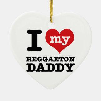 I love my Reggaeton Dancer Daddy Ceramic Heart Decoration