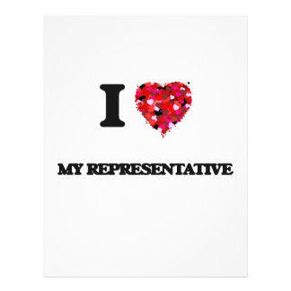 I Love My Representative 21.5 Cm X 28 Cm Flyer