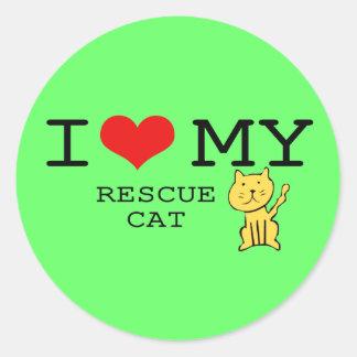I Love My Rescue Cat Sticker