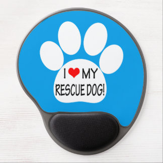 I Love My Rescue Dog Gel Mouse Pad