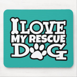 I love my rescue dog mouse pad, many colors mouse pad