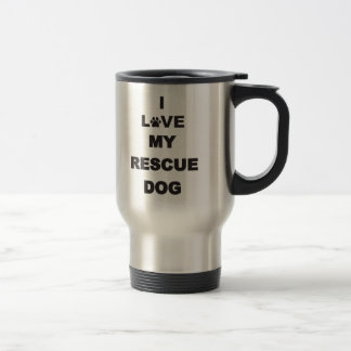 I Love My Rescue Dog Mug