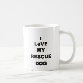 I Love My Rescue Dog Classic White Coffee Mug