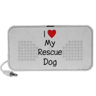 I Love My Rescue Dog Speaker