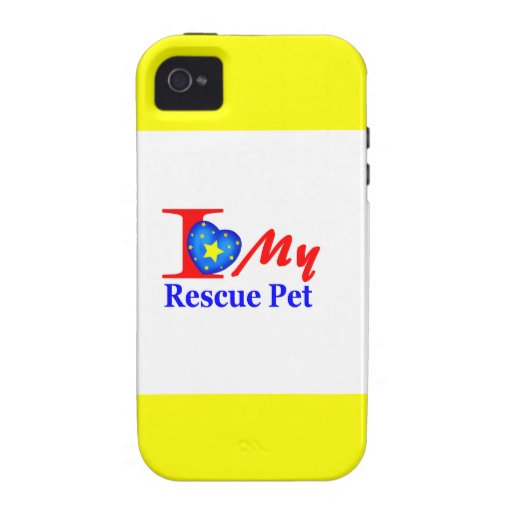 """I Love My Rescue Pet """"Heroes4Rescue"""" Vibe iPhone 4 Case"""
