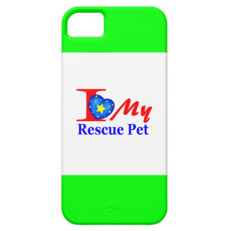 "I Love My Rescue Pet ""Heroes4Rescue"" iPhone 5 Cover"
