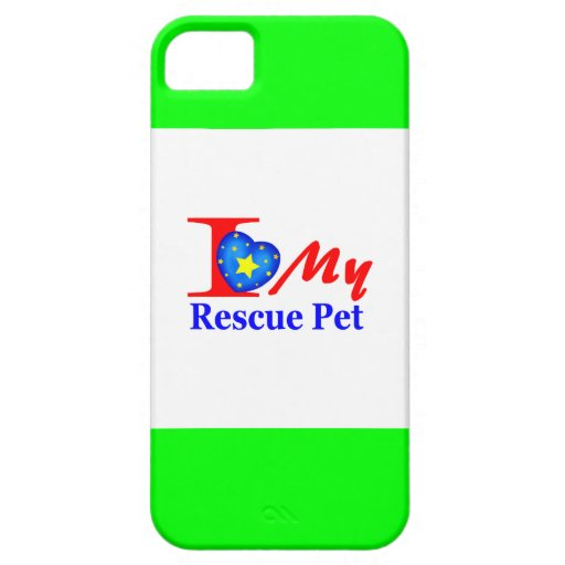 """I Love My Rescue Pet """"Heroes4Rescue"""" iPhone 5/5S Cases"""