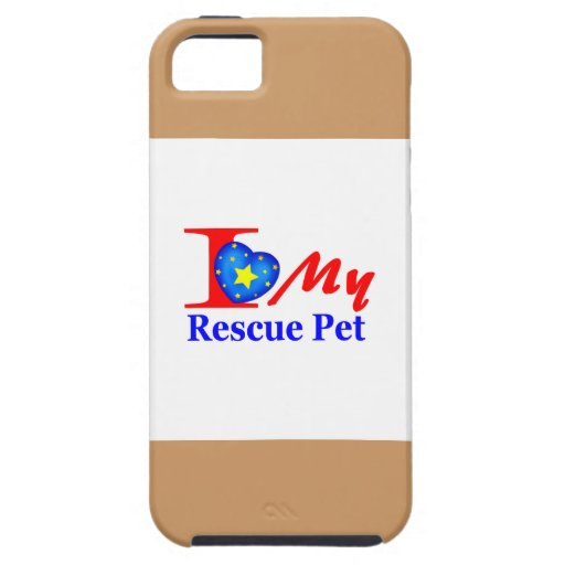 """I Love My Rescue Pet """"Heroes4Rescue"""" iPhone 5/5S Covers"""
