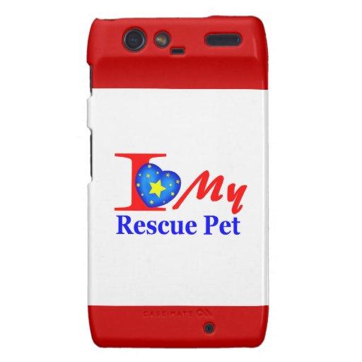 "I Love My Rescue Pet ""Heroes4Rescue"" Droid RAZR Case"