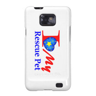 "I Love My Rescue Pet ""Heroes4Rescue"" Samsung Galaxy SII Cases"