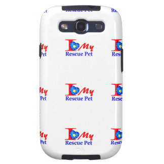 "I Love My Rescue Pet ""Heroes4Rescue"" Galaxy S3 Cases"