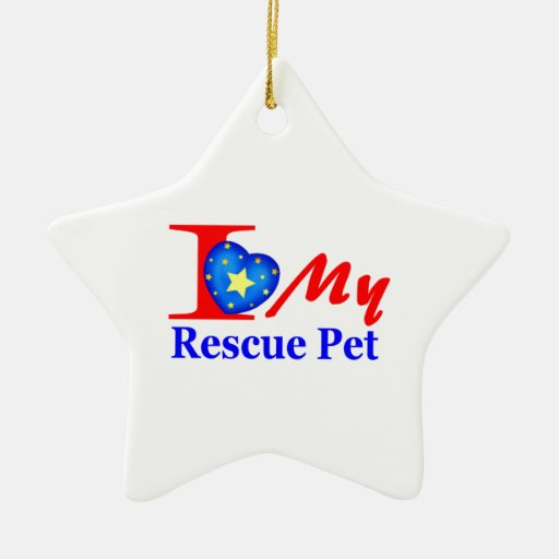 """I Love My Rescue Pet """"Heroes4Rescue"""" Ornaments"""