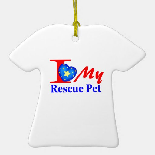 """I Love My Rescue Pet """"Heroes4Rescue"""" Christmas Ornament"""