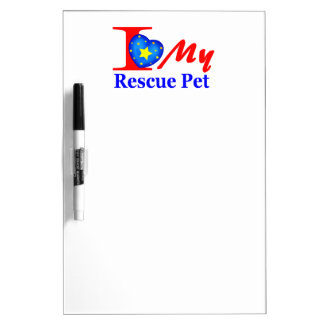 """I Love My Rescue Pet """"Heroes4Rescue"""" Dry-Erase Boards"""