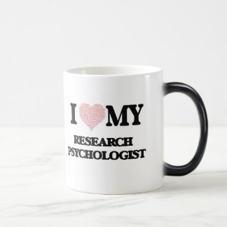 I love my Research Psychologist (Heart Made from W Morphing Mug