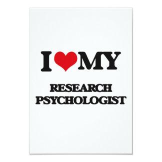 "I love my Research Psychologist 3.5"" X 5"" Invitation Card"