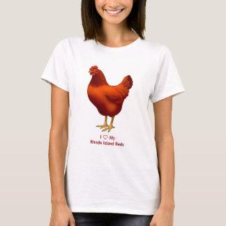 I Love My Rhode Island Red Chicken Farmer T-Shirt