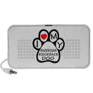 I Love My Rhodesian Ridgeback Dog Travelling Speaker