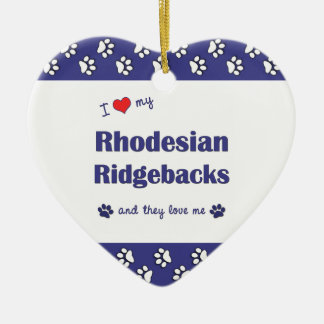 I Love My Rhodesian Ridgebacks (Multiple Dogs) Christmas Ornament