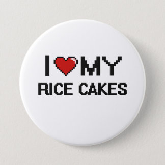 I Love My Rice Cakes Digital design 7.5 Cm Round Badge