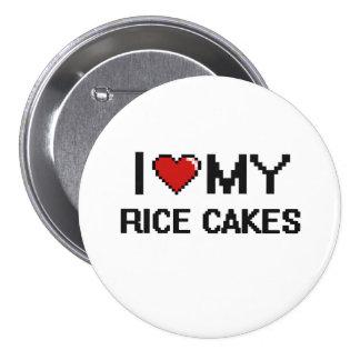 I Love My Rice Cakes Digital design 7.5 Cm Round Badge