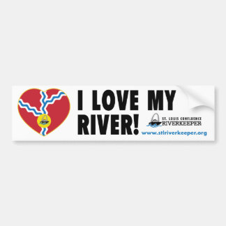 I Love My River Bumper Sticker