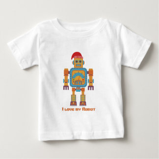 I Love My Robot Baby T-Shirt