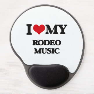 I Love My RODEO MUSIC Gel Mouse Mats