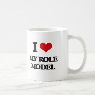 I Love My Role Model Basic White Mug