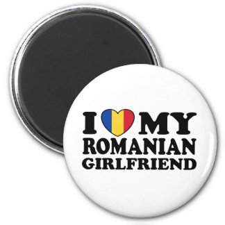 I Love My Romanian girlfriend 6 Cm Round Magnet