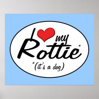 I Love My Rottie (It's a Dog) Print