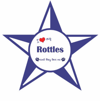 I Love My Rottles (Multiple Dogs) Photo Sculpture Decoration